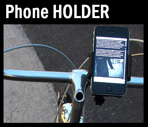Smart Phone Holder  on Bicycle Handlebar  스마트폰거치대